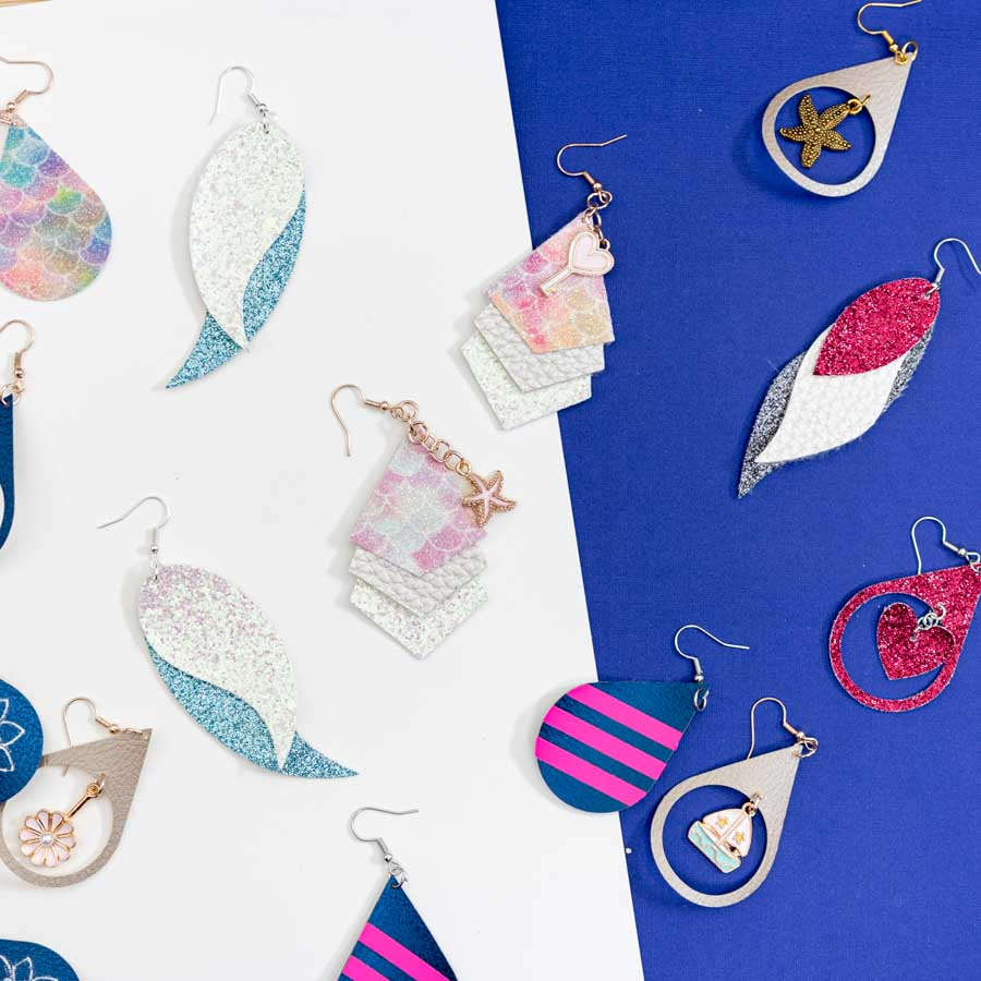 assorted cricut earrings