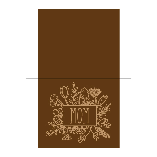 floral mother's day card free svg template