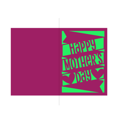 banner happy mother's day card free svg template