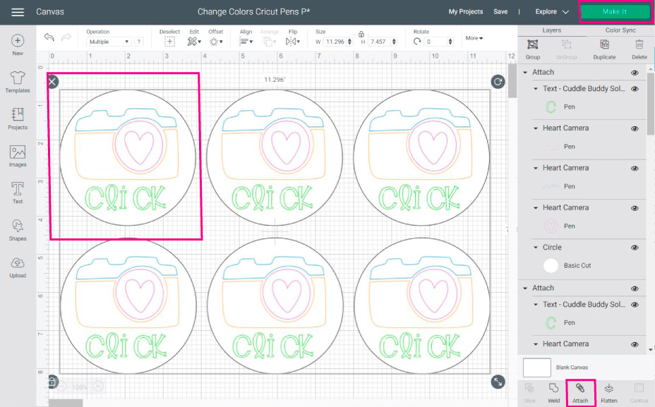 Duplicating a drawing design in Cricut Design Space