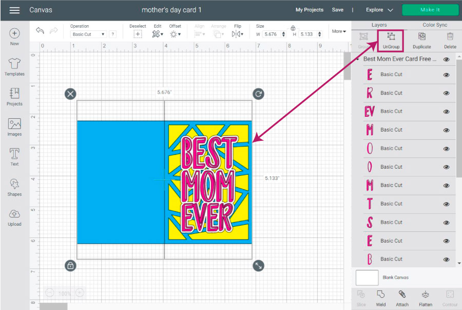 organize file in cricut design space