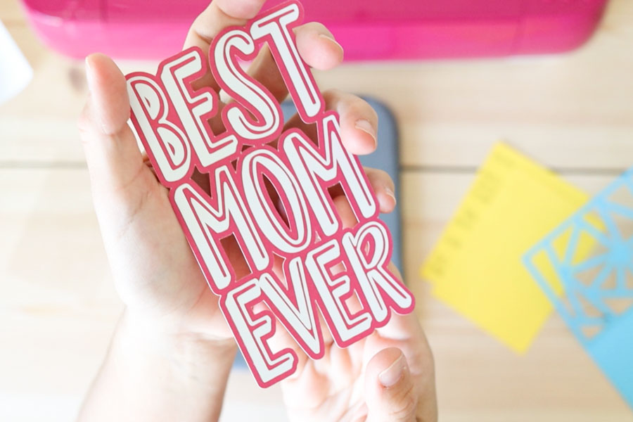 best mom ever iron-on and paper design
