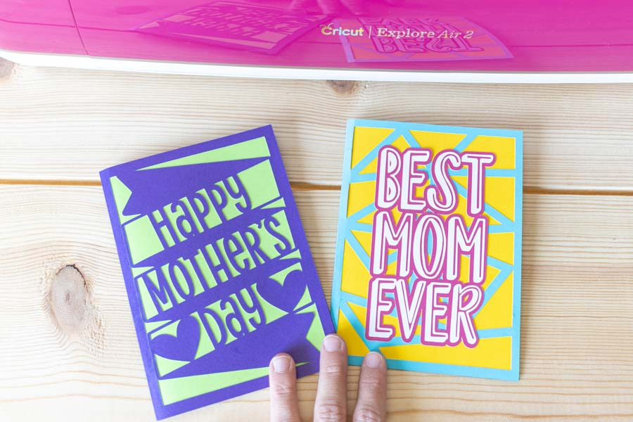 mother's day cards made with cricut