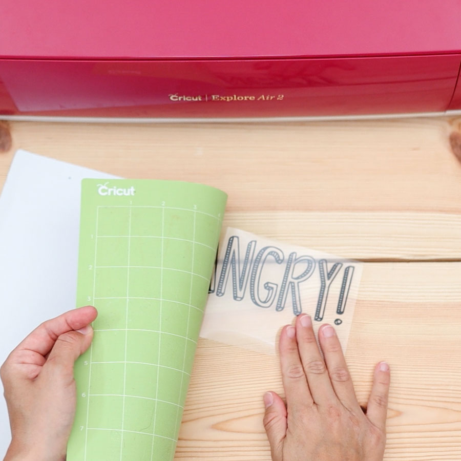 removing htv from cricut mat
