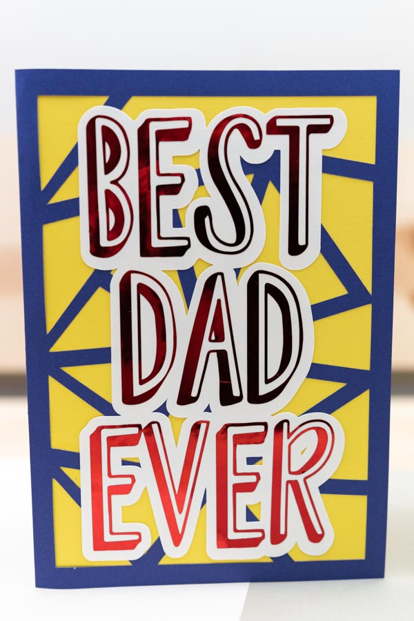 best dad ever card made with cricut