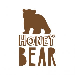 Honey Bear Free SVG-100