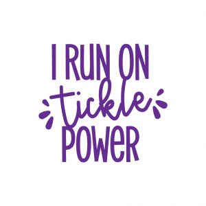 I run on tickle power Free SVG-100