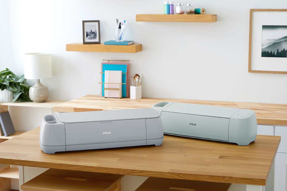 cricut maker 3 and explore 3 on the same table.