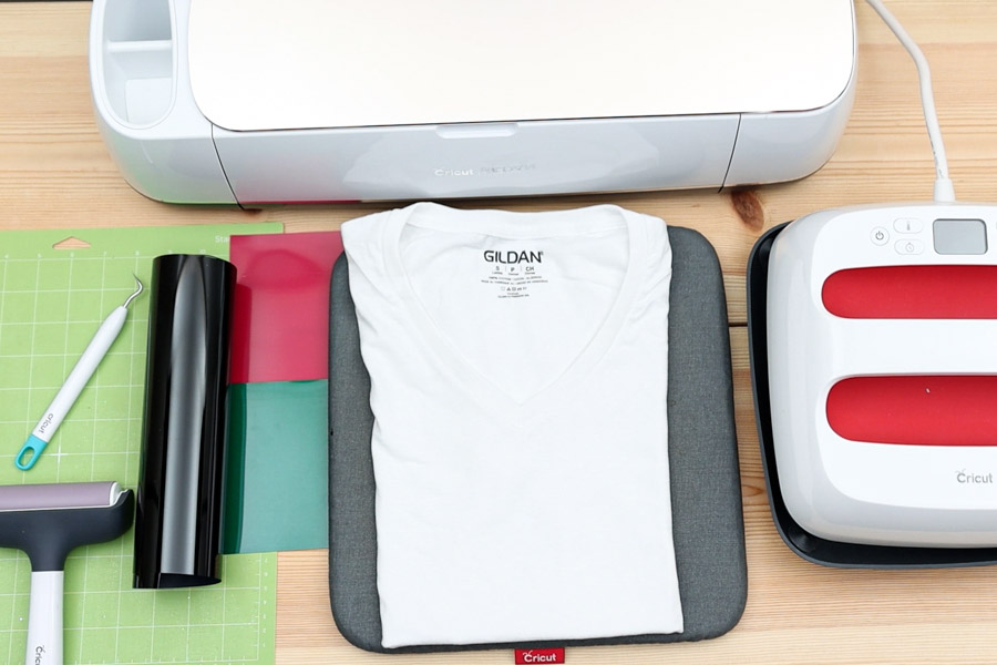 materials you need for making summer t-shirt with cricut