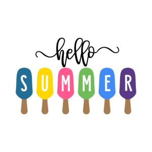 Hello Summer Popsicles FREE SVG