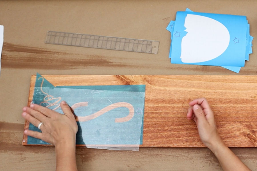 stencil vinyl on wood