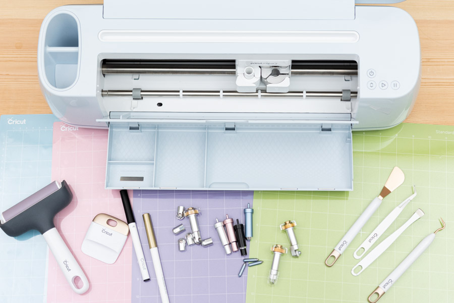 Cricut Maker 3 with mats and different tools you can use