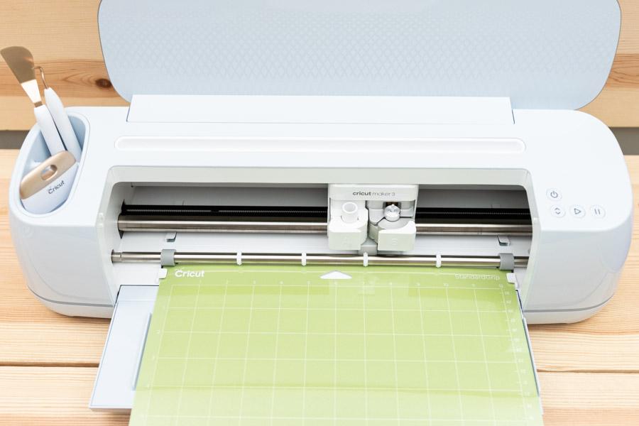 cricut maker 3 and green mat