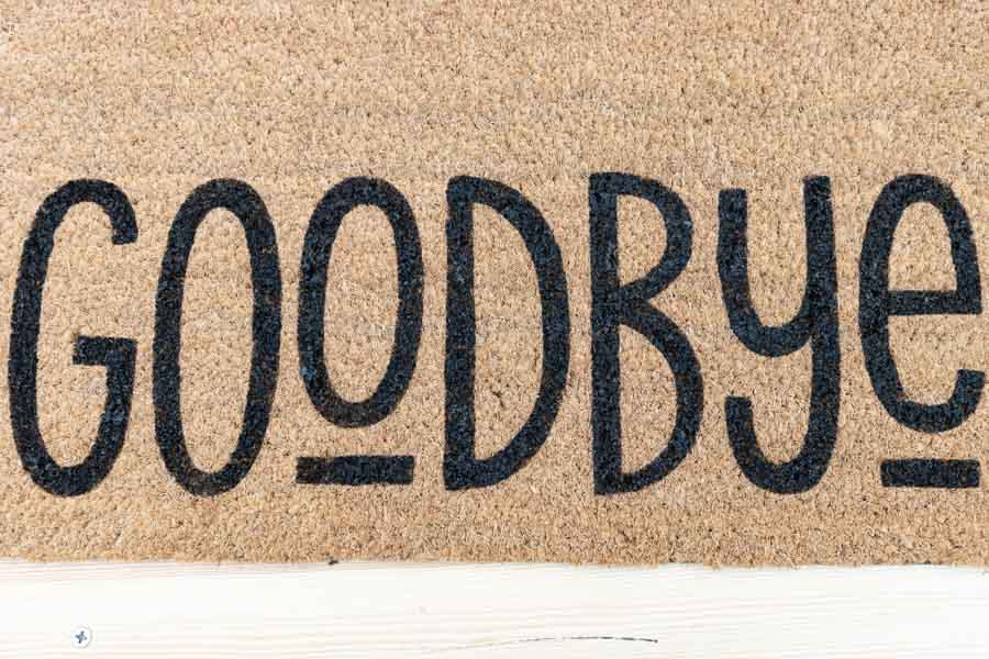 final look of doormat using stencil vinyl