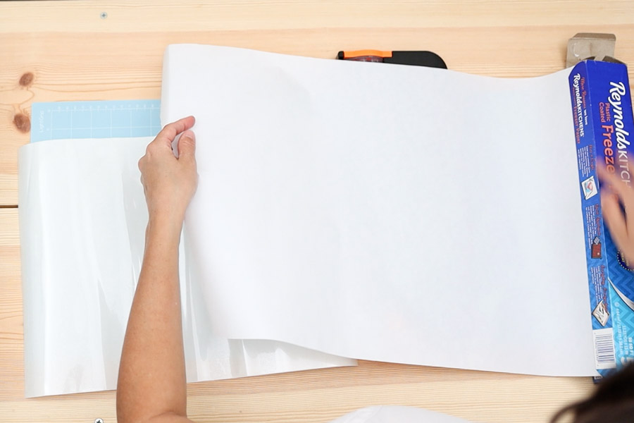 trim freezer paper