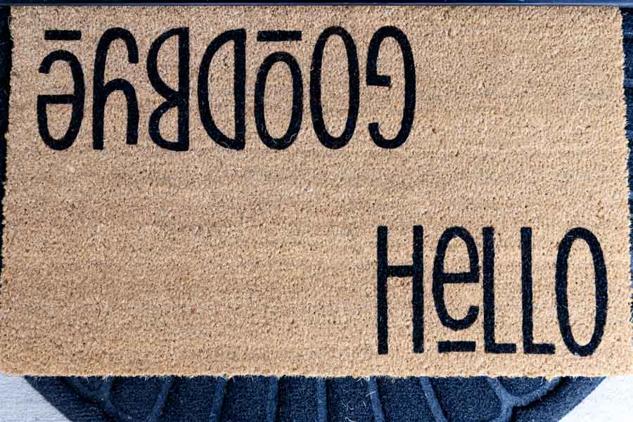 doormat made with cricut