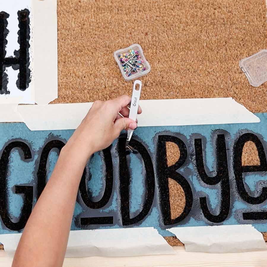 removing vinyl from doormat