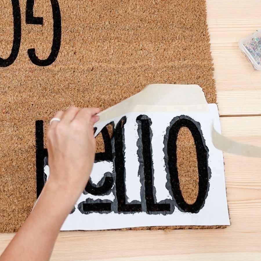 removing freezer paper from doormat