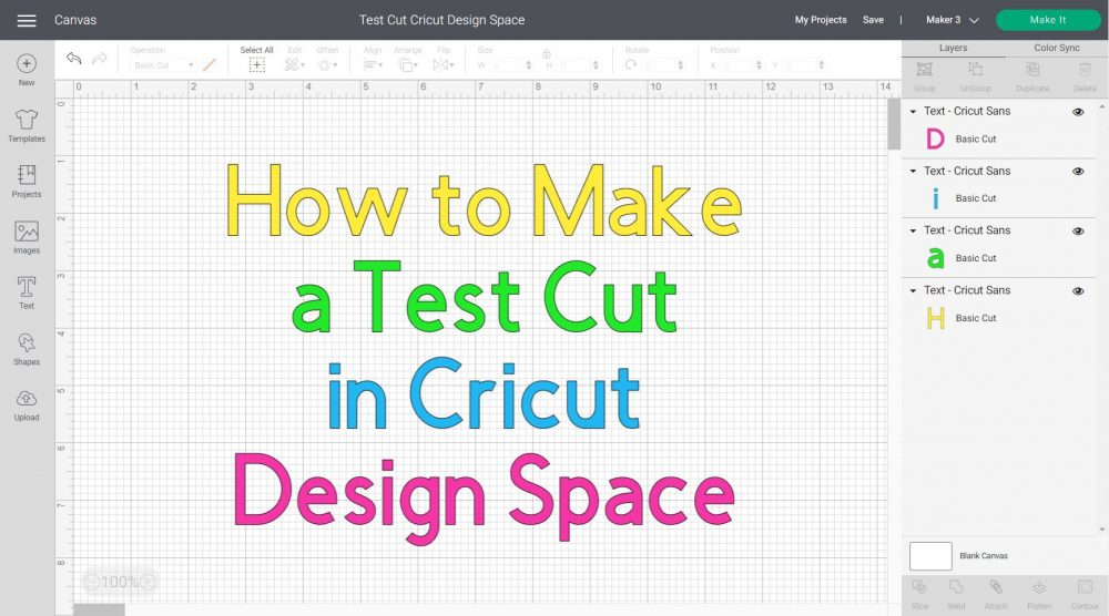 how to make a test cut in cricut design space featured image