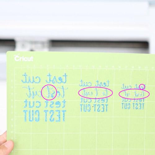 test cut glitter cardstock error